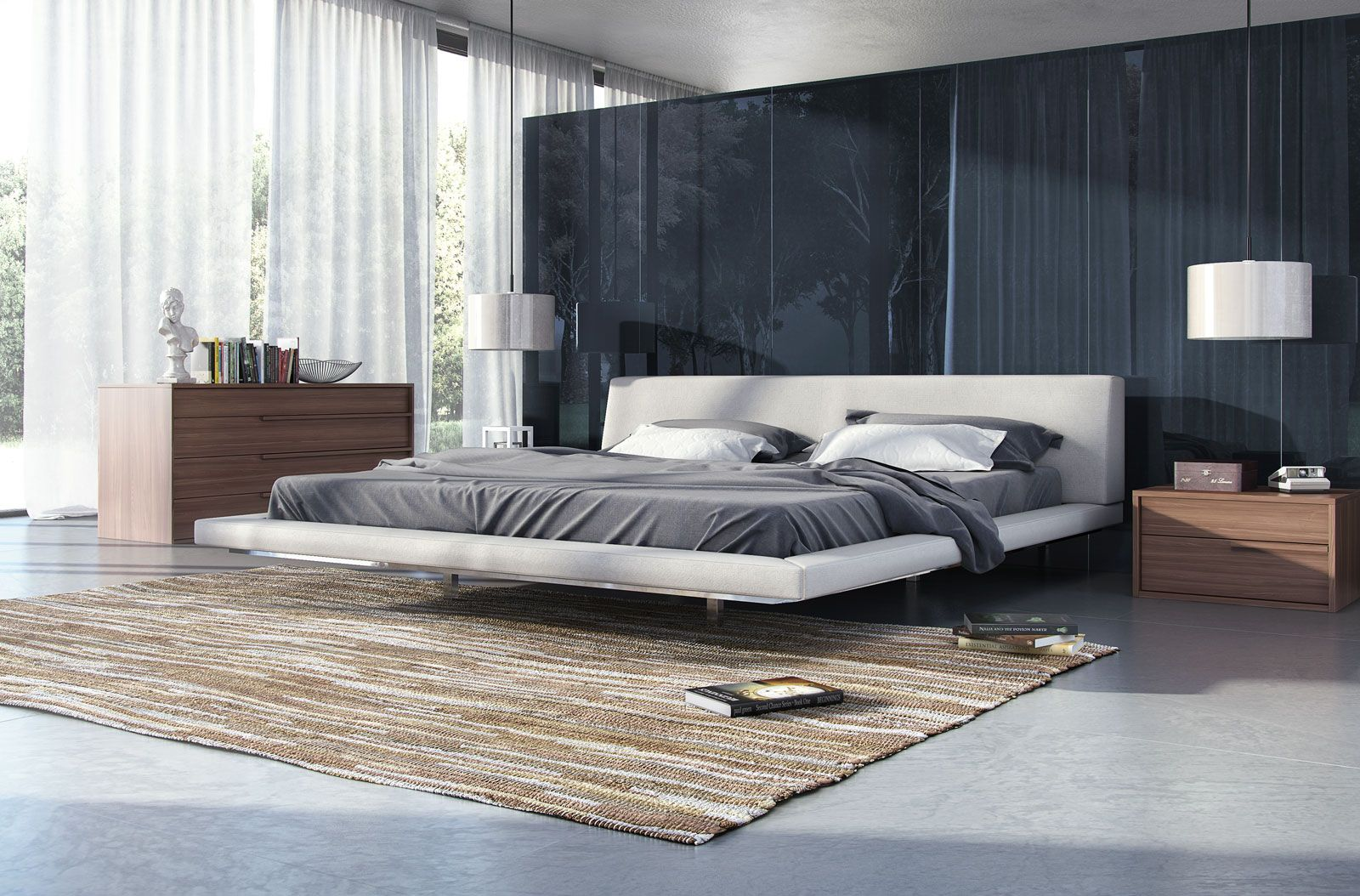 Jane King Bed   King beds, Latex mattress and Solid wood