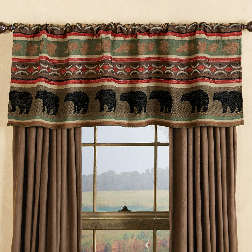 Yukon River Bear Moose Valance