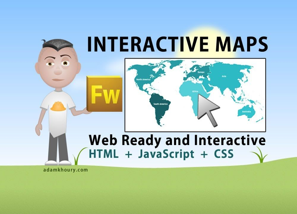 Interactive world map tutorial html javascript php fireworks interactive world map tutorial html javascript php fireworks continent c gumiabroncs Image collections
