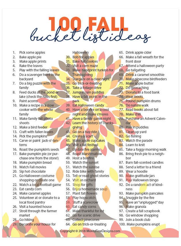 100 Family Friendly Fall Bucket List Ideas in 2020 Fall