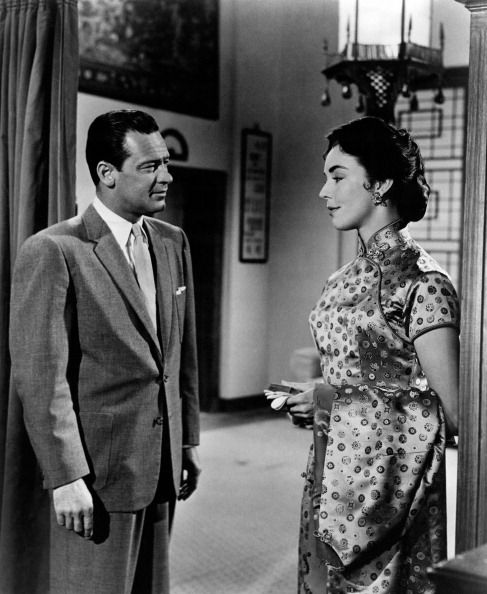 """William Holden & Jennifer Jones in Love is a Many Slended Thing"""""""