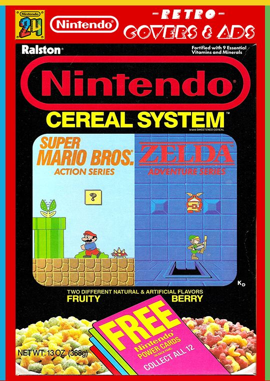 Pin By Nintendo24 Gr On Nintendo Retro Covers Ads Cereal