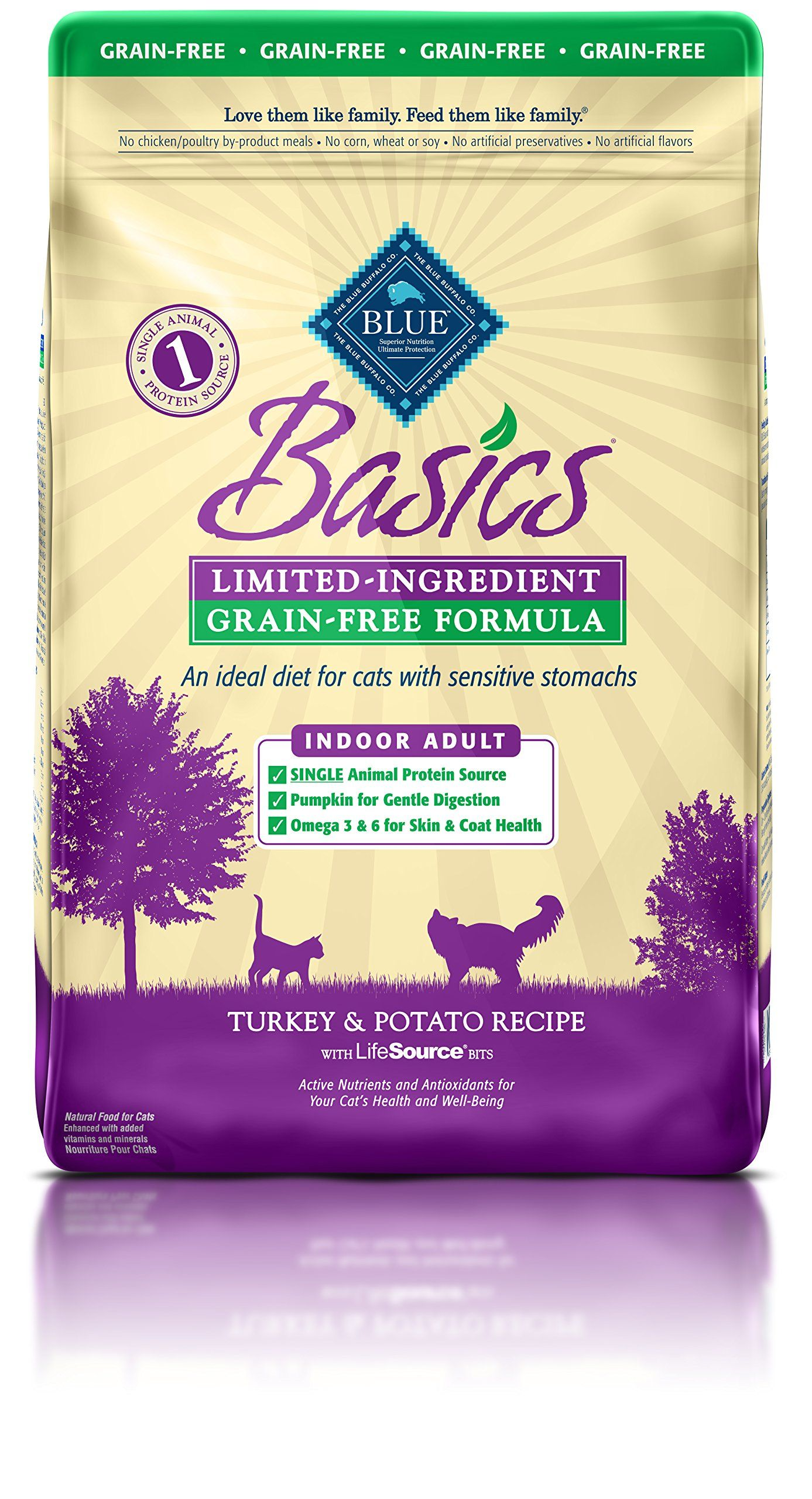 Blue Basics Limited Ingredient Diet Grain Free Natural Indoor