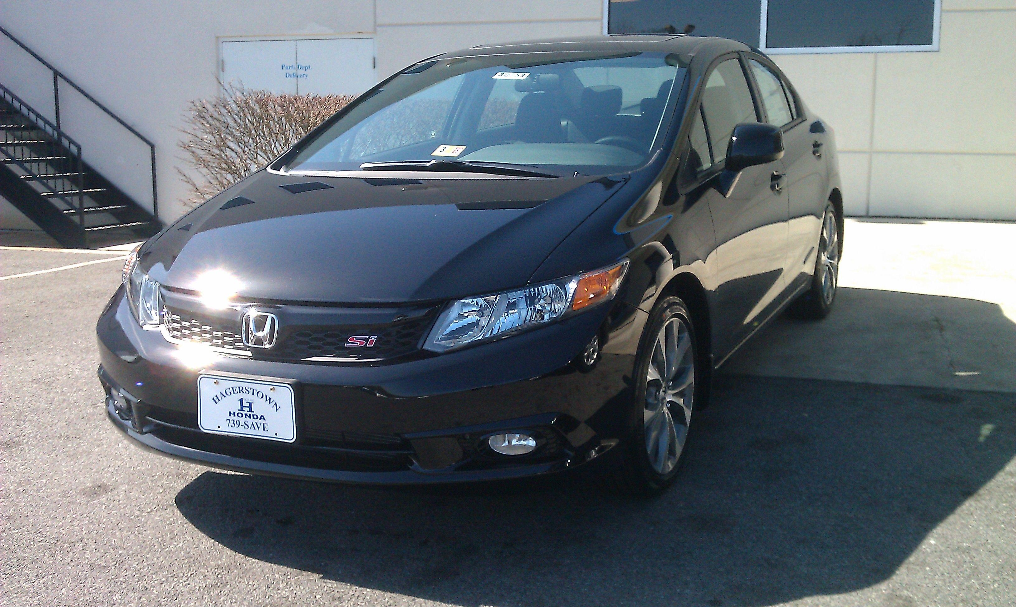 2012 Honda Civic Si In Black Honda Civic Si Civic Sedan Honda Civic Sedan