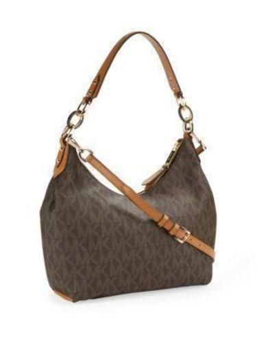 ad8e1d2a33fa1a MICHAEL KORS ISABELLA MEDIUM CONVERTIBLE SHOULDER BAG BROWN SIGNATURE NWT # MichaelKors #ShoulderBag