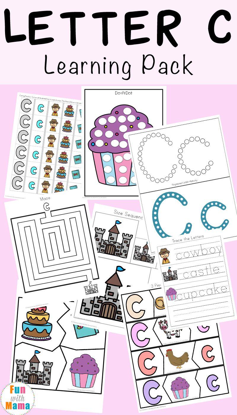 letter c worksheets and printables pack free printable activities letter c worksheets. Black Bedroom Furniture Sets. Home Design Ideas