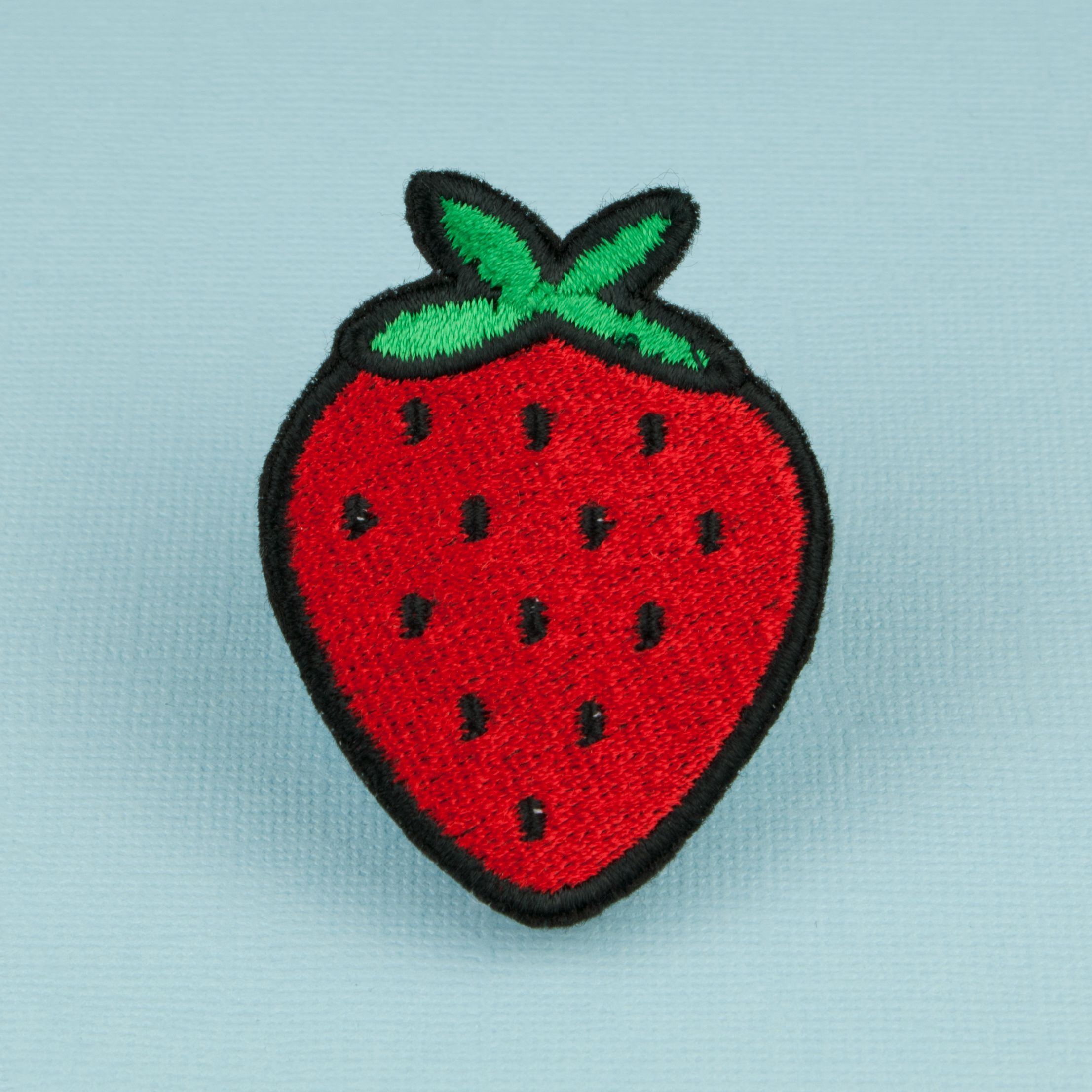Amazon. Com: cute red strawberry diy applique embroidered sew iron.