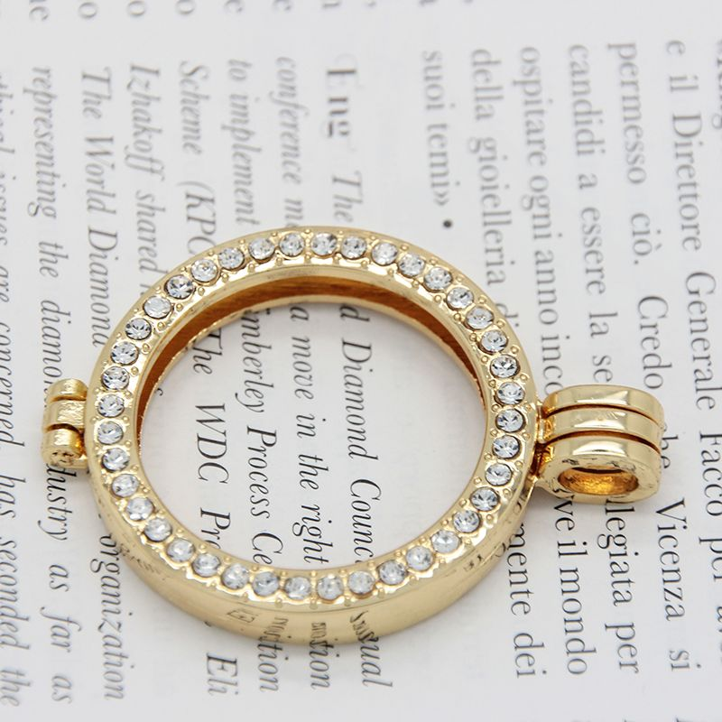 Gold color coin bezel fit 33mm coin charms alloy frame pendant for gold color coin bezel fit 33mm coin charms alloy frame pendant for my coin holder pendant aloadofball Image collections