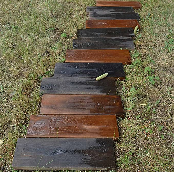 AmazonSmile 2 Molds Old Wooden Boards Concrete Mould