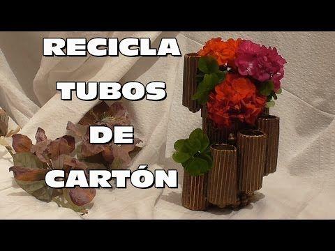 DIY HACER ORGANIZADOR DE ESCRITORIO RECICLADO, DIY RECYCLING ORGANIZER - YouTube