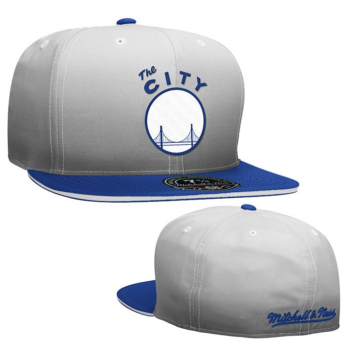 online store 9aad2 58199 ... free shipping golden state warriors mitchell ness the city fade 2 tone  fitted cap grey 9d3e5