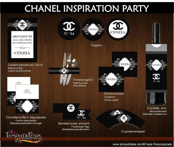 Chanel Inspirazione Festa stampabile di Tempodifesta su Etsy, €10.00