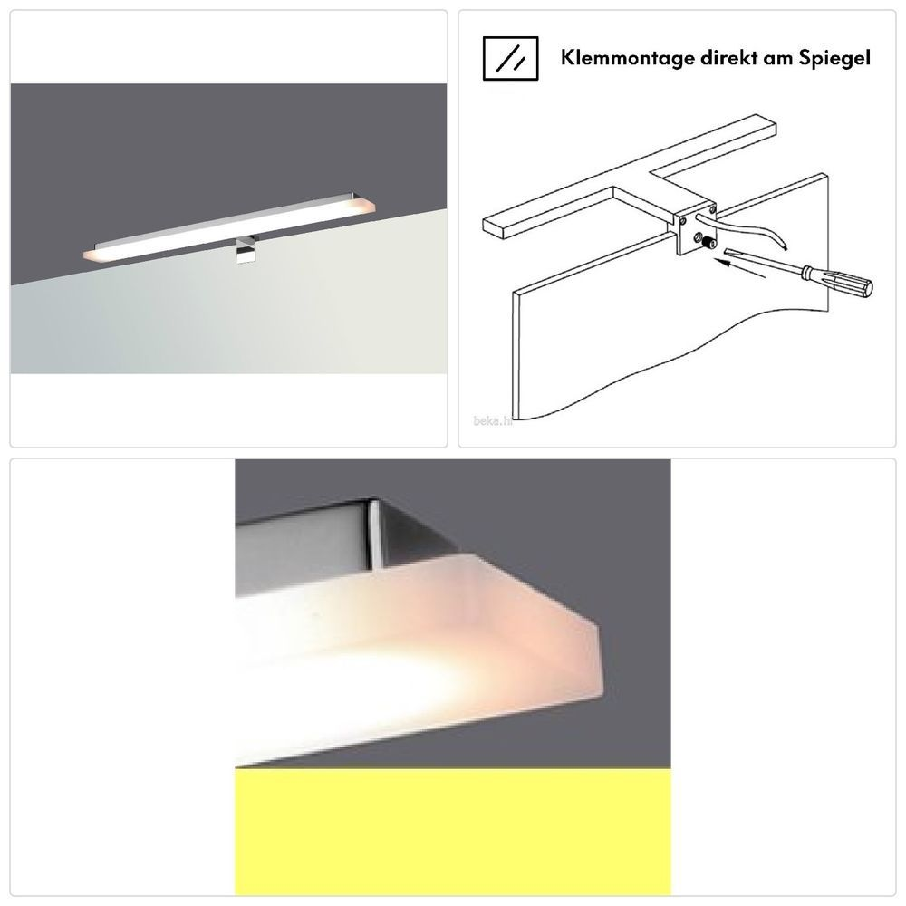 Applique Pince Miroir Salle Chaud Bain Lampe Blanc Led De EWD9IYH2