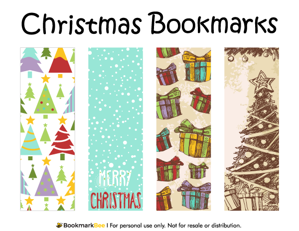Free Printable Christmas Bookmarks. Download The PDF Template At  Http://bookmarkbee. Within Christmas Bookmark Templates