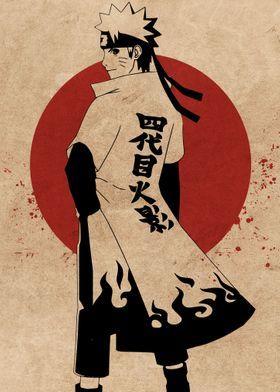 'Naruto The Hokage' Metal Poster Print - Everything Anime | Displate