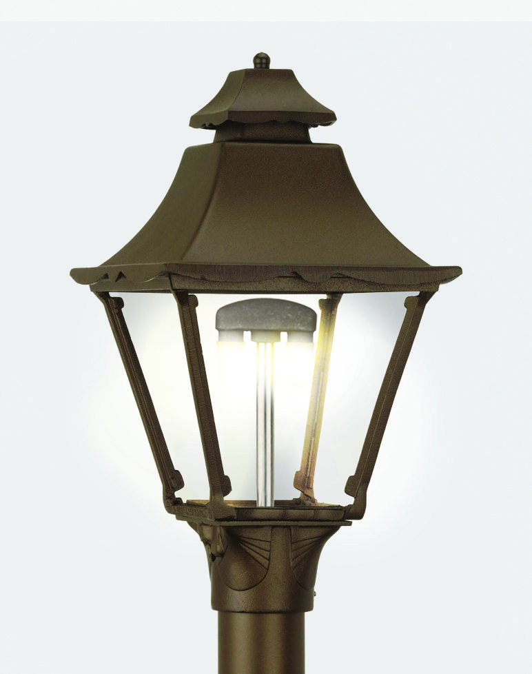 Historic Outdoor Gas Lamps American Made Victorian Post Lights