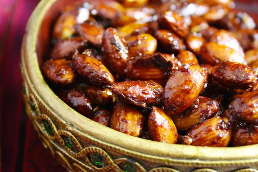 Let's Feast: Sweet Spicy Roasted Harissa Almonds