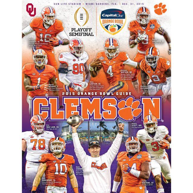 Clemson's Orange Bowl Guide Clemson football, Clemson
