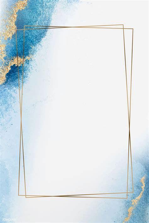 Blank Golden Rectangle Frame Vector | Premium Image By