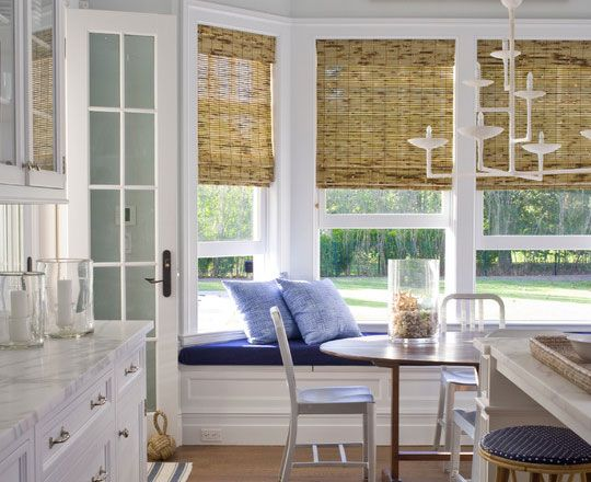 kitchen window blinds wicker style roller blinds - Kitchen Blinds Ideas