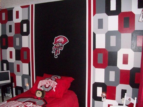 Ohio State Bedroom Decorating Ideas Boy Room Boys Room