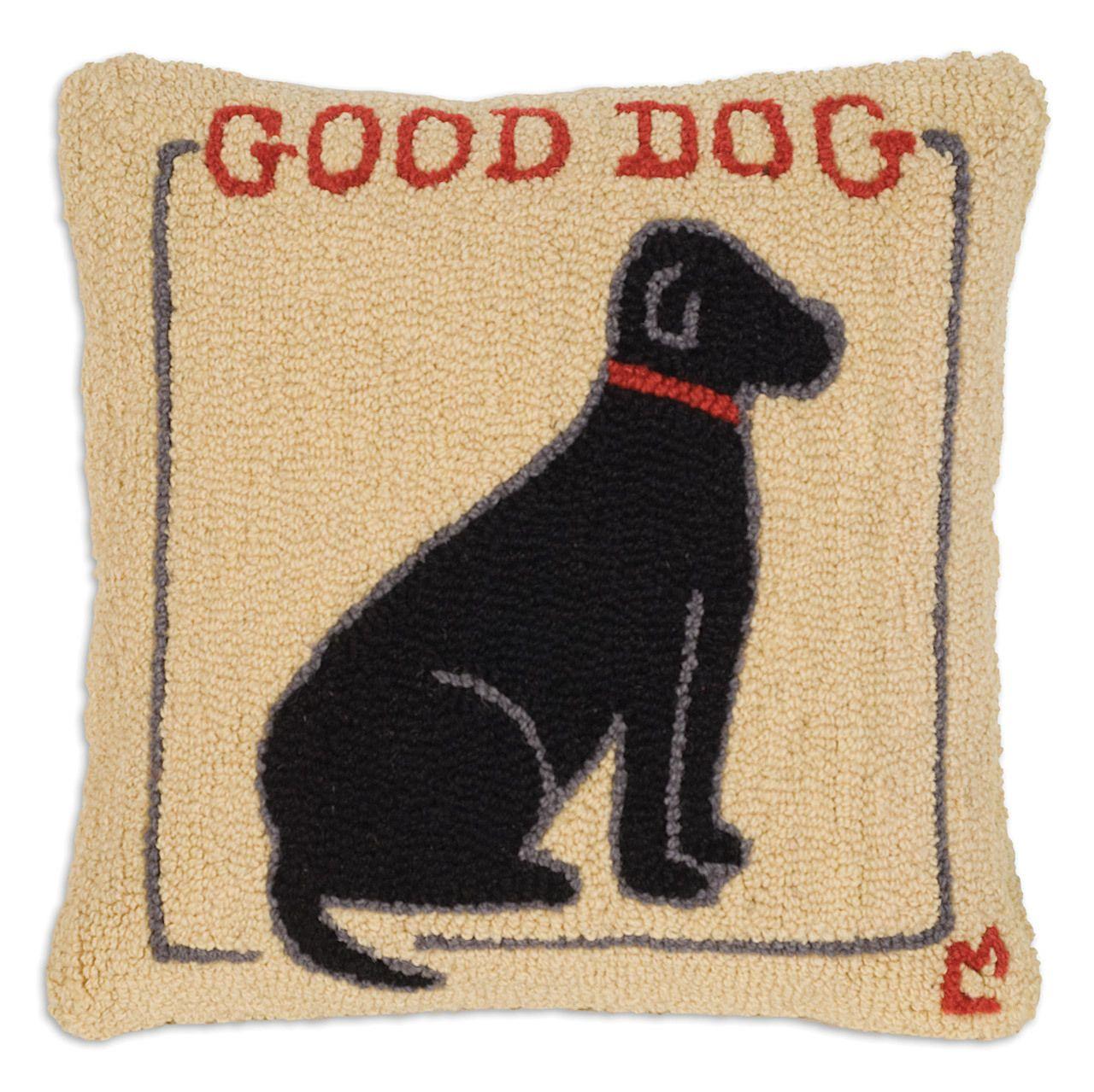 "Chandler 4 Corners - Good Dog Black Lab 18"" Pillow, $79.00 (http://www.chandler4corners.com/good-dog-black-lab-18-pillow/)"