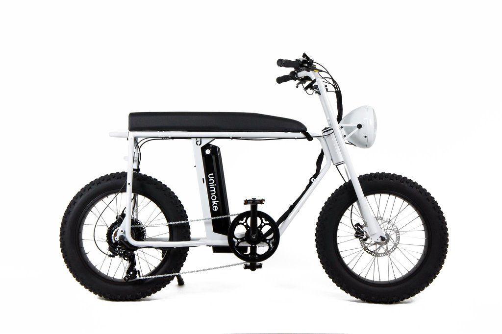 Unimoke V3 Lightning White Electric Bike Bicycle Bicycle Bike