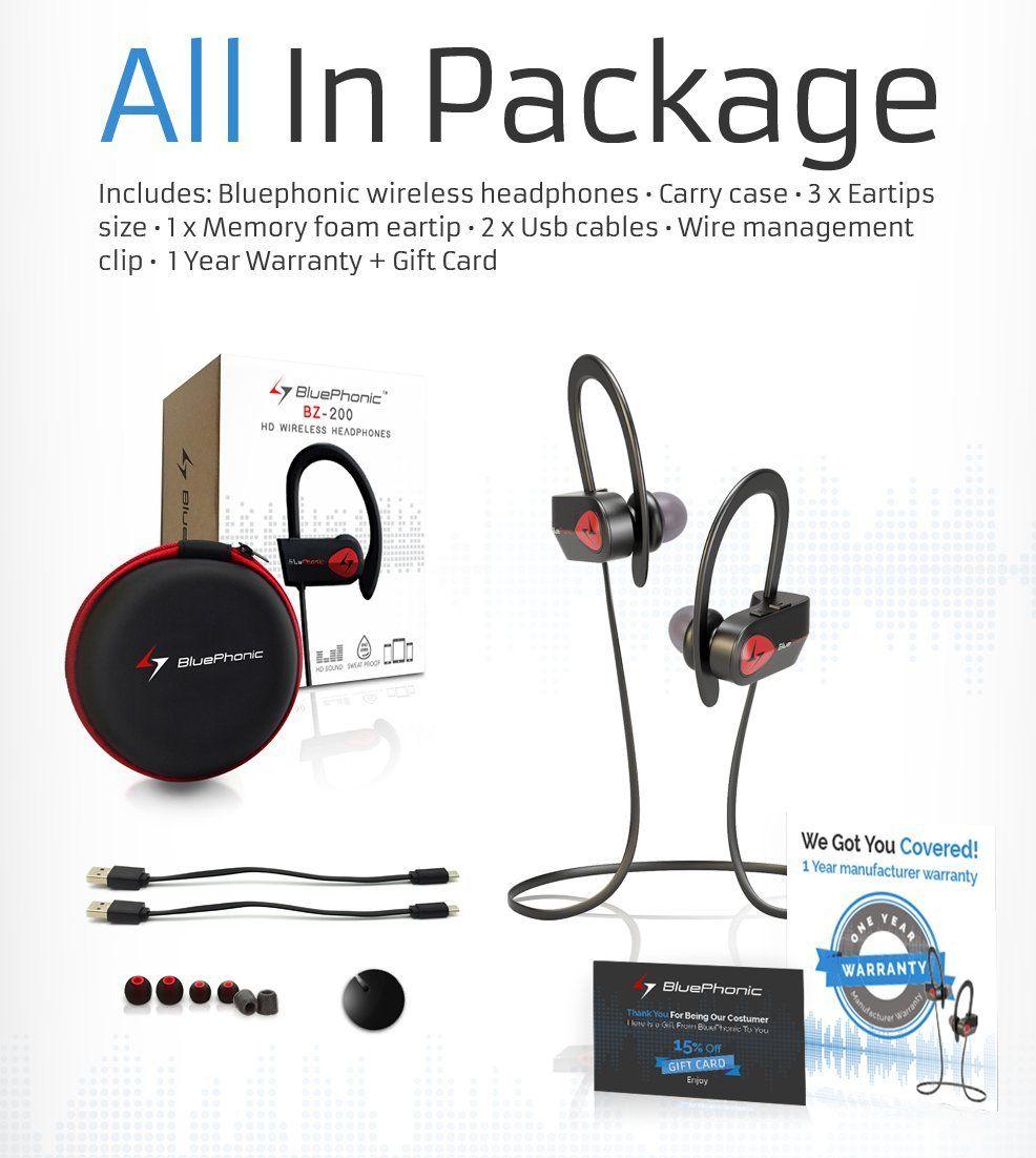 Amazon com: Bluephonic Bluetooth Wireless Headphones