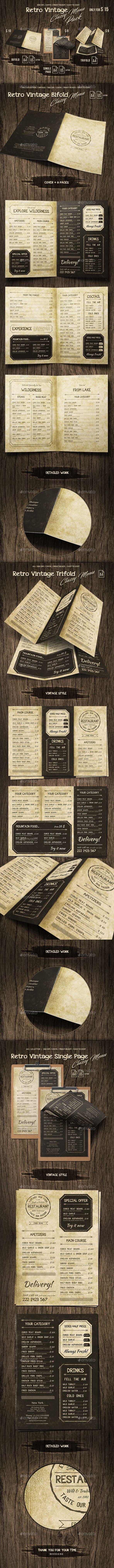 Retro Vintage Classy Menu Bundle
