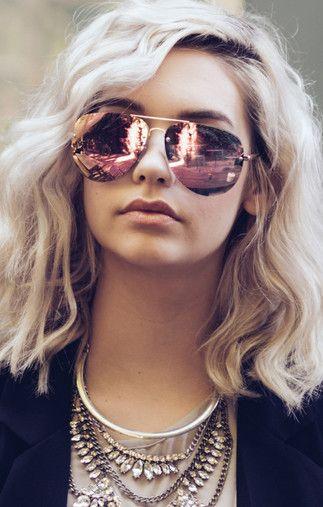 Quay Australia x Amanda Steele Muse Sunglasses Gold/Pink