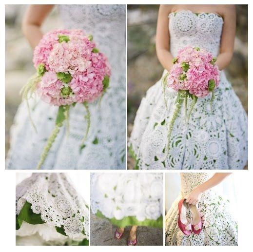 Strapless Crochet Wedding Dress