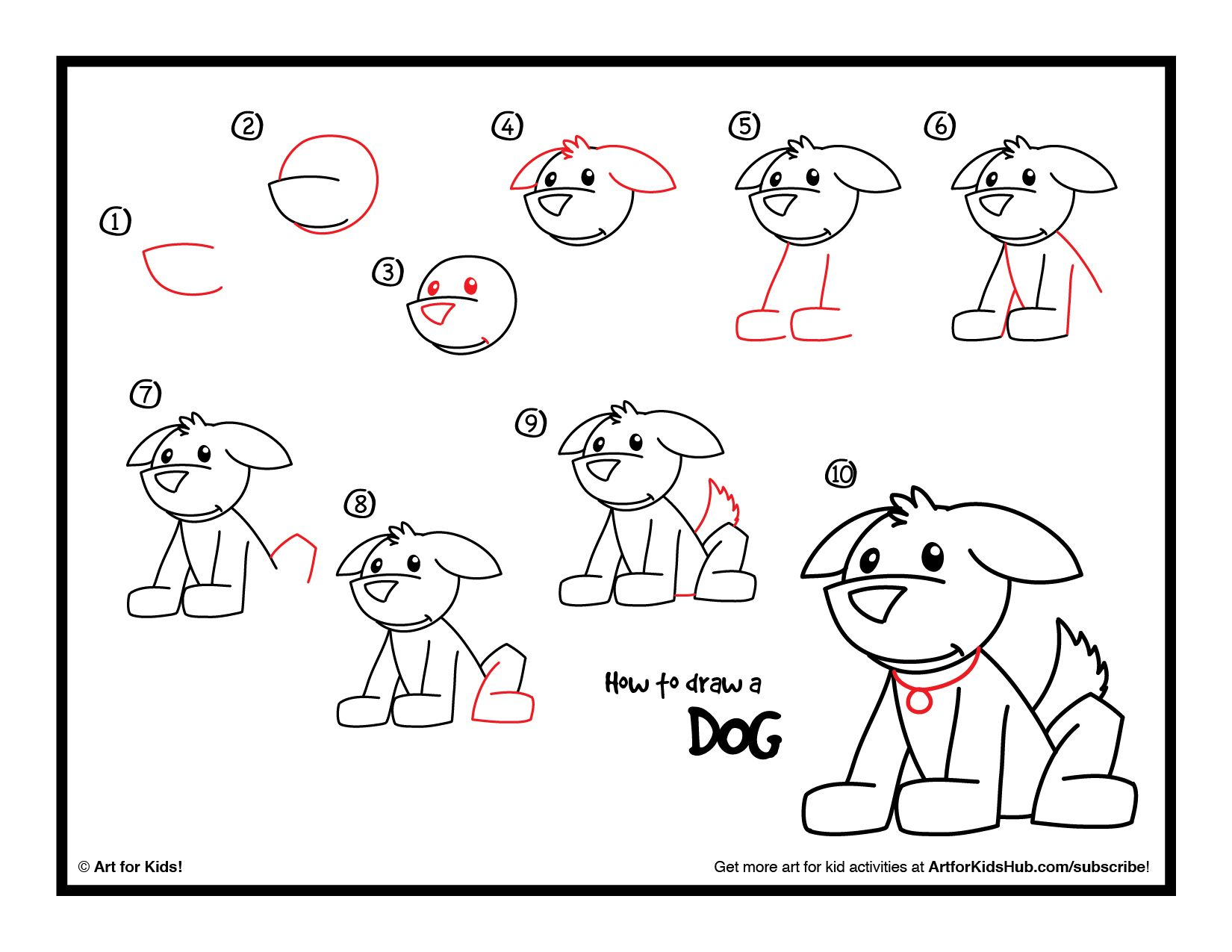How To Draw A Dog - Art For Kids Hub - | Dog drawing for ...