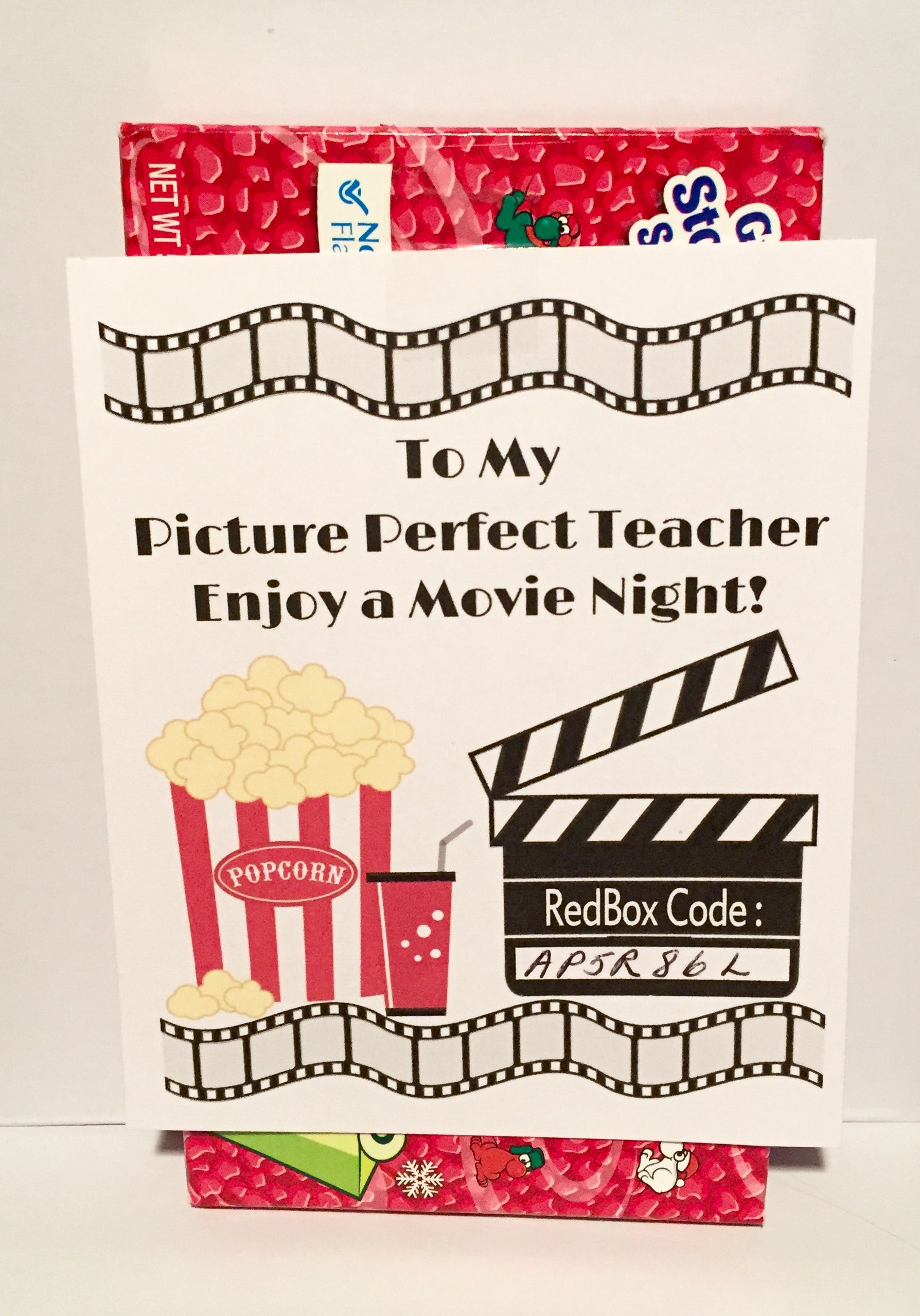 photo about Redbox Printable known as Redbox Printable Trainer Appreciation Present Tag - Do-it-yourself