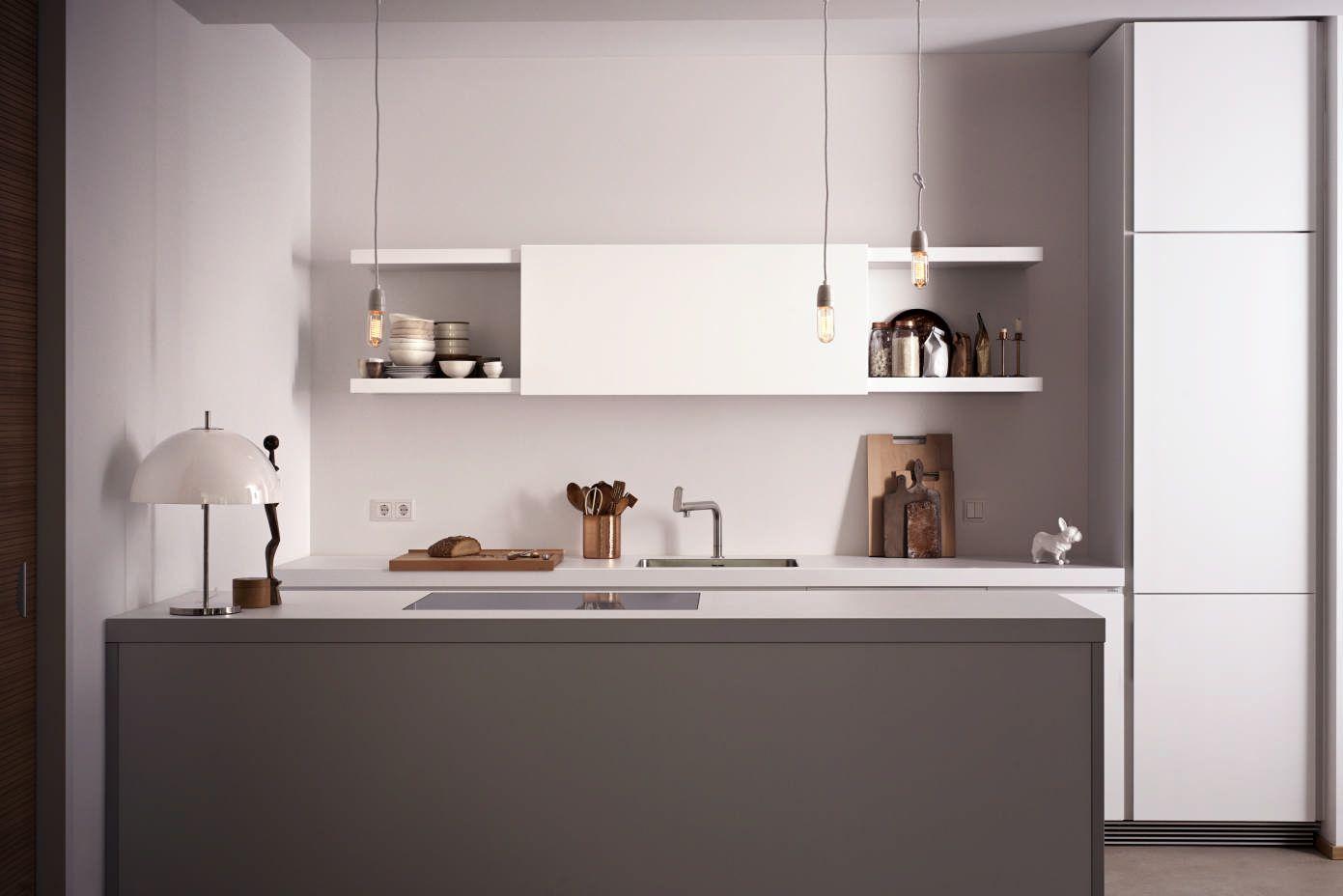 Design Cube Keuken : Bulthaup b keuken wit hangkasten keukeneiland decoratie