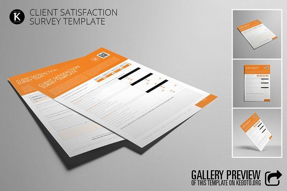 Client Satisfaction Survey Template  Client Creativemarket And