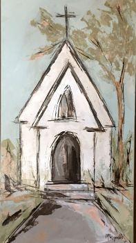 Little White Church 144 Pieces Church Art Art Painting Painting