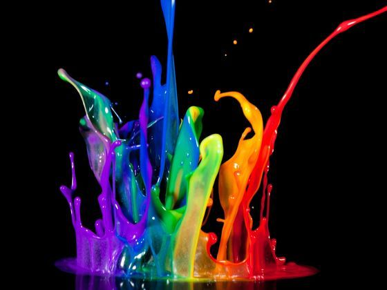 What Color Represents You Best Painting Wallpaper Colorful Wallpaper Rainbow Painting