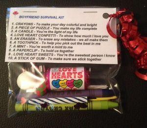 Boyfriend Survival Kit Valentines Gift For Him Birthday Anniversary