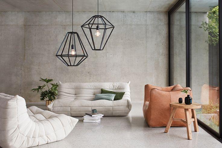 the beacon lighting leconic contra 1 light geometric design pendant