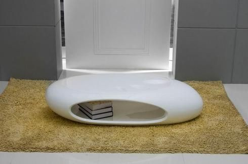 Cave - White Lacquer Coffee Table
