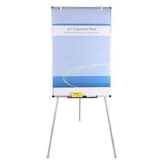 VIZ-PRO Light Melamine Tripod Whiteboard/Flipchart Easel, 24\
