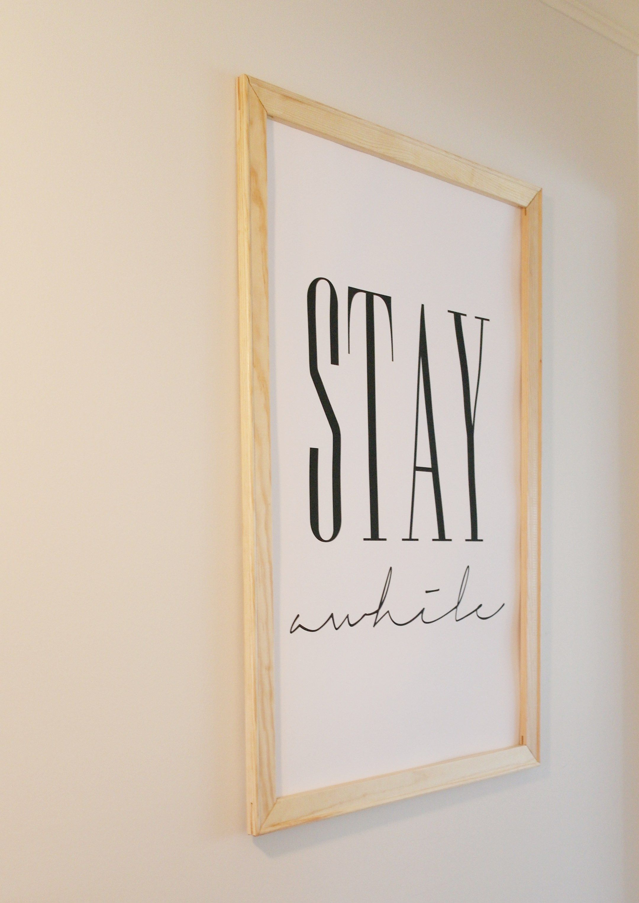 DIY Framed Poster | Diy frame, Picture hangers and Easy diy projects