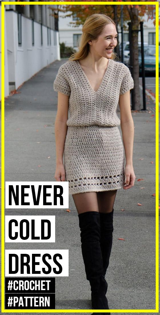 Photo of hekle mønsteret Never Cold Mini Dress