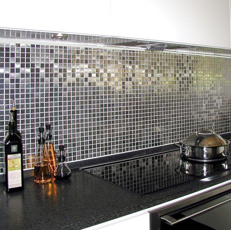 Metallmosaik borstad stål 2x2 cm   Mosaik   Pinterest   Ps