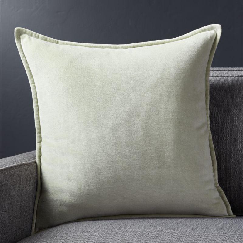 Shop Brenner Sage Green 20 Quot Velvet Pillow Neat And Classic This Luxurious Velvet Pillow In Soft Sage Green Adds Th Velvet Pillows Pillows Throw Pillows
