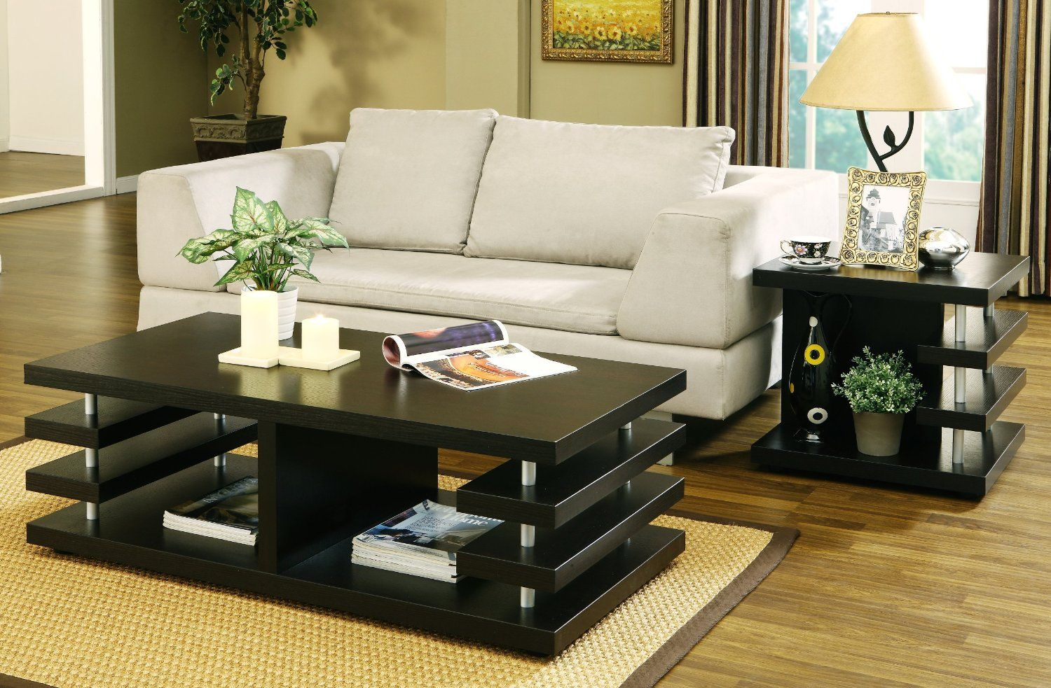 Modern Sofa Side Table Design.Black Wooden Coffee Table Design Ideas For Modern Living