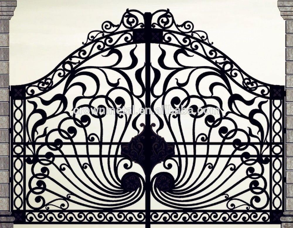 Beautiful Residential Wrought Iron Gate Designs Models Wrought