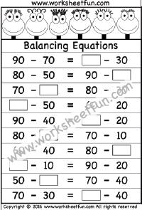 Balancing Equations – One Worksheet | Printable Worksheets ...