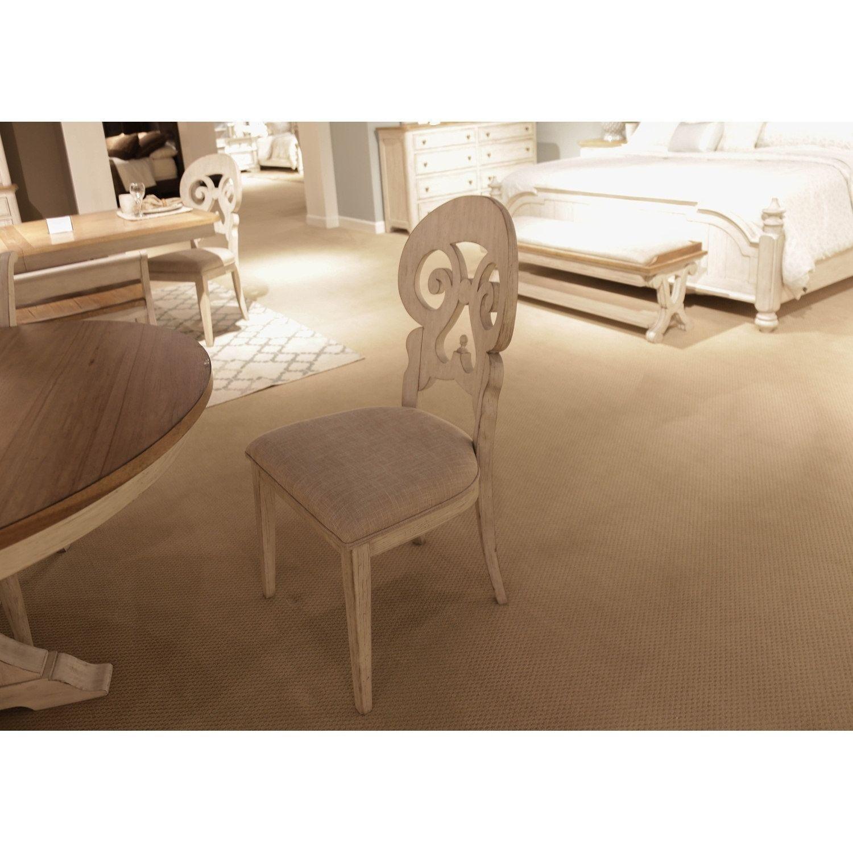 Farmhouse Reimagined Antique White Splat Back Side Chair