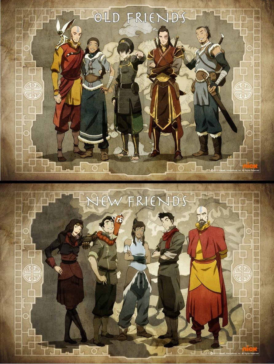 The legend of korra should have avatar in front of it but legal old friends legend of korra from avatar the last airbender voltagebd Image collections
